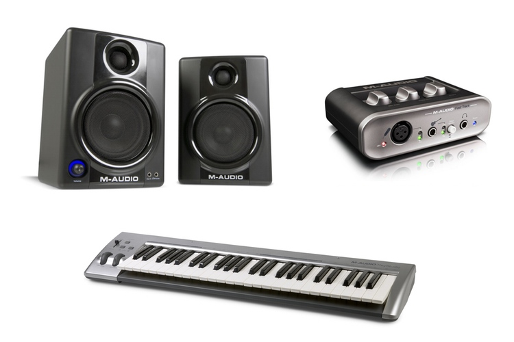 M-Audio STUDIOPHILE AV 40 II | M-Audio KEYRIG 49 | Avid Recording Studio